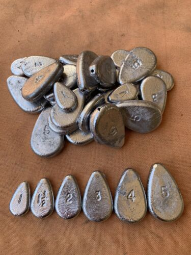 FREE SHIPPING Sinkers 1-1.5-2-3-4-5 oz No Roll Fishing Weights 5 lbs