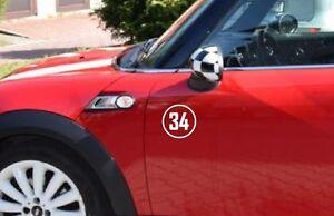 Race Rally Number # Circle Racing Sticker Decal door hood window 00 car