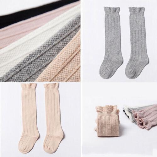 Girls Toddler Long Knee High Socks Leg Warmer Stockings Cotton Sock Stockings