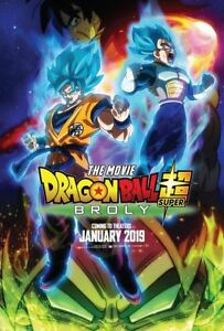 Art Dragon Super Broly Movie Poster 20x30 24x36 DBZ US Ver Film P600