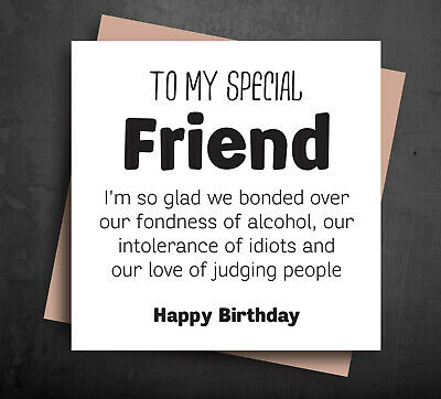 Amazing Funny Birthday Card Best Friend T Idea Wine Gin Rude Comedy Funny Birthday Cards Online Aboleapandamsfinfo