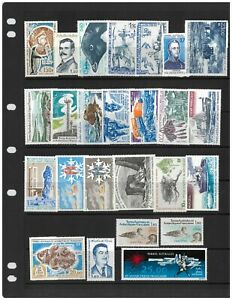 French-Antarctic-Territory-25-Different-Stamps-All-Mint-Unhinged-MUH-2