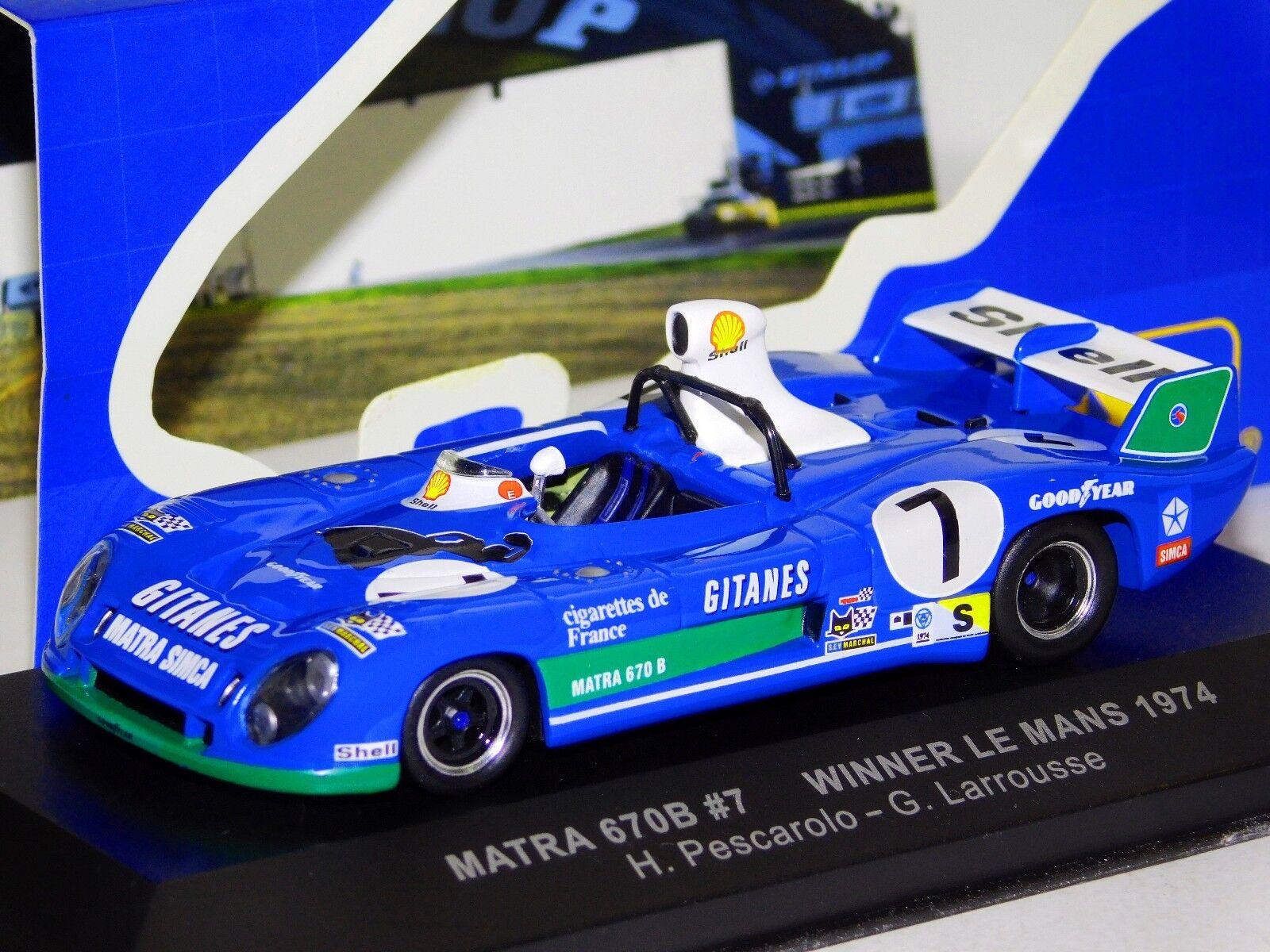 Matra MS670B  7 ganador Edición Limitada Mans 1974 PesCocheolo Larrousse IXO LM1974 1 43