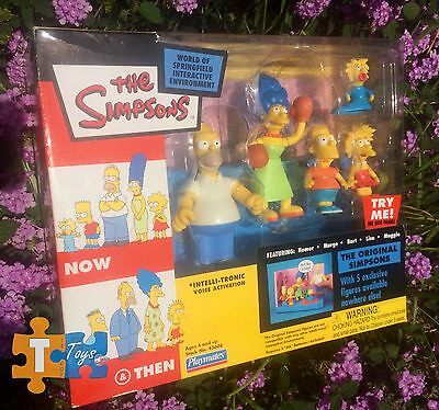 "The Original Simpsons 2003 Intelli-Tronic Action Figure Set ""NEW"""