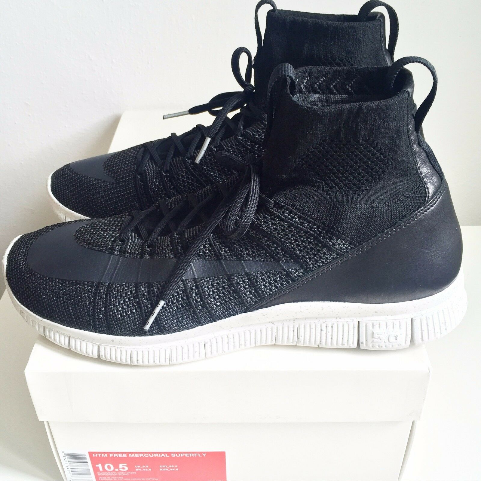 Nike Free Mercurial Mercurial Mercurial Superfly HTM Noir 1 of 500 US10.5 UK9.5 EUR44.5 CM28.5 d2f005