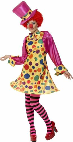 Ladies Fancy Dress Clown Lady Circus Hooped Costume 32882 Hanging