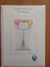 Clintons Me To You Bear  50 50th Birthday Card. Free P&P