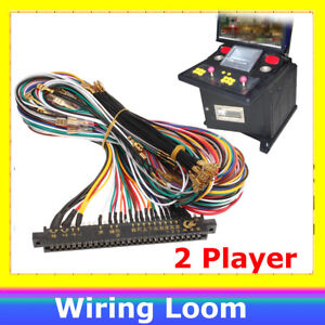 Arcade-Harness-56-Pin-Wiring-Loom-2-Player-Joystick-amp-6-Buttons-Player-for-JAMMA