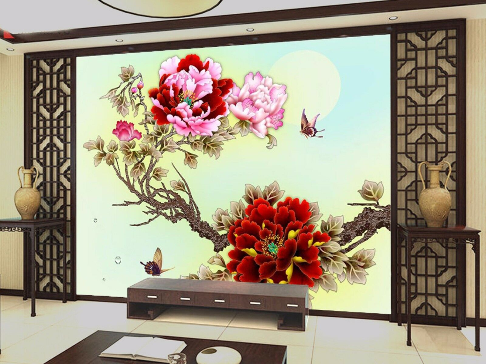 3D Peony gorgeous 5253 Wall Paper Wall Print Decal Wall Indoor Murals Wall US