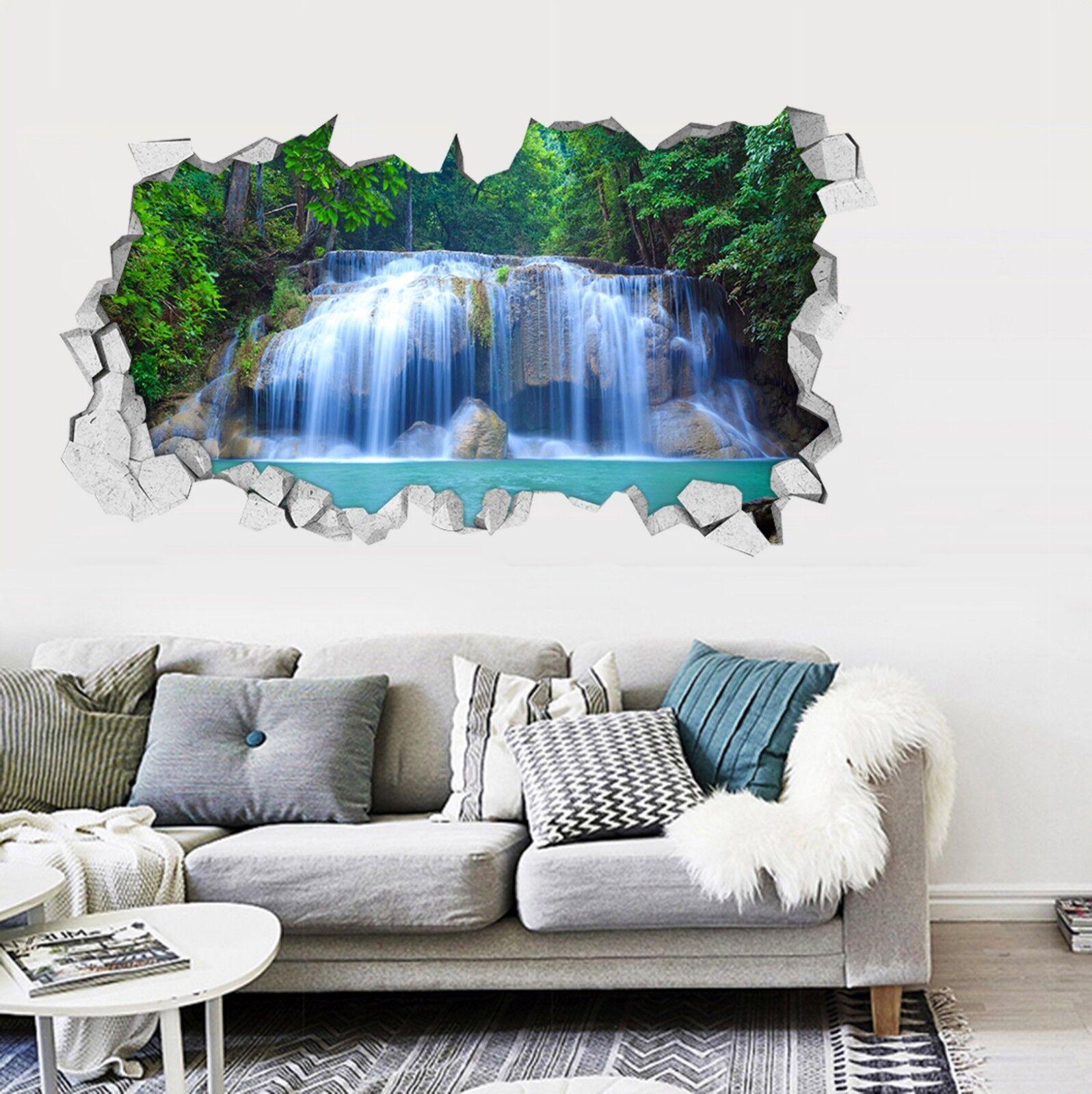 3D Fluss Wasserfall Mauer Murals Mauer Aufklebe Decal Durchbruch AJ WALLPAPER DE