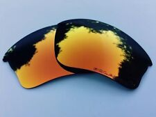 ENGRAVED POLARISED FIRE RED MIRROR REPLACEMENT OAKLEY HALF JACKET XLJ LENSES