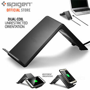 wholesale dealer 5c2fc 300a8 Details about FREE EXPRESS Spigen F303W Wireless QI Charging Pad for iPhone  X / 8 / 8 Plus