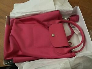 Brand New Longchamp Le Pliage Neo Medium Pink Crossbody Tote Bag ... aa6371fc76ecb