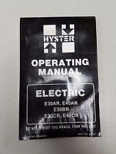 Hyster Forklift Electric E30ar E40ar E30br E30cr E40cr Operating Manual