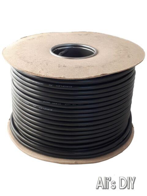 3185Y 5 Core Control Gear Flexible Black Cable 0.75mm 1mm 1.5mm 2.5mm 50m 100m