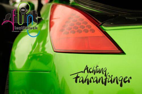 A 255 -  Achtung Fahranfänger Anfänger Aufkleber  Autoaufkleber Sticker