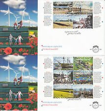 Netherlands Nederland 2012 FDC Madurodam 10v Set on 2 Covers Schiphol Binnenhof