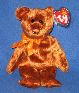 TY MC VI 6 BEAR BEANIE BABY - MINT MASTERCARD EXCLUSIVE MINT TAGS  154ea381a33d