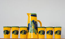 Villeroy & Boch Gallo 'Vanessa' Keramik Saftkrug + Sechs Becher 70er Jahre