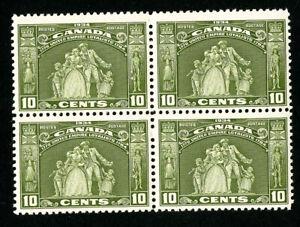 Canada-Stamps-209-VF-OG-NH-Block-4-Scott-Value-210-00