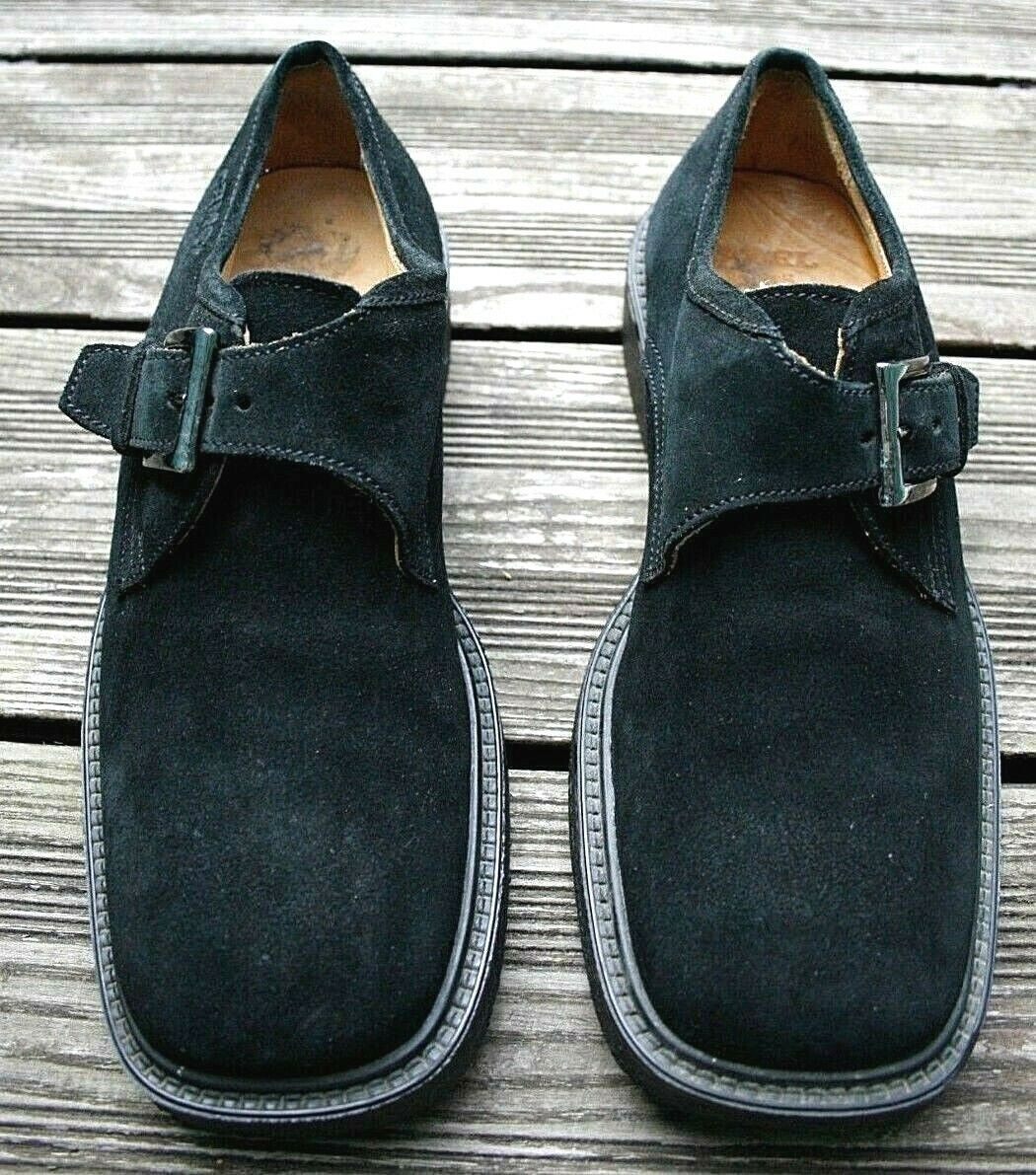 RARE  CAMEL active Vintage Suede Wildleder 42,5 Echtleder schwarz Herren Schuhe