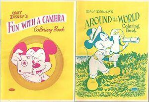 4 Small Walt Disney & Mickey Mouse Whitman Coloring Books 1957 ~ Few ...
