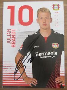 Handsignierte-Autogrammkarte-JULIAN-BRANDT-Bayer-04-Leverkusen-17-18-2017-2018