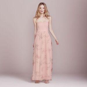 8147f6a0e2 LC Lauren Conrad Women's Garden Peach Floral Strapless Maxi Dress ...