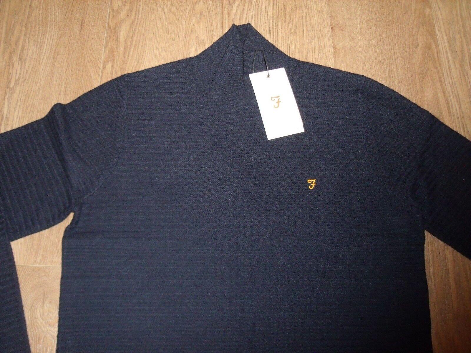 Farah Herren Hochkragen Pullover Marineblau GR. M NEU   Genial Genial Genial Und Praktisch  052858