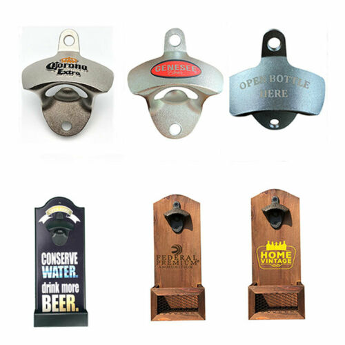 Kitchen Beer Bottle Opener Rustic Cast Iron Wall Mounted Open Tool Vintage Style