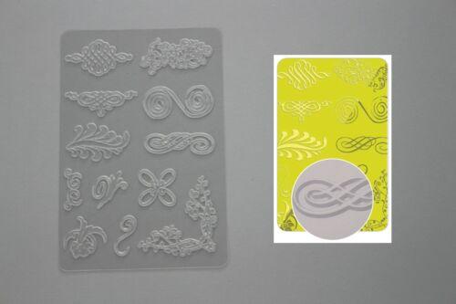 fimo motif au choix plaque de texture pour pâte polymère