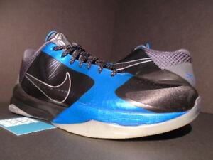 sale retailer 7b15d 4555d Details about 2010 NIKE ZOOM KOBE V 5 DARK KNIGHT BLACK GREY NEPTUNE BLUE  SILVER 386429-001 13