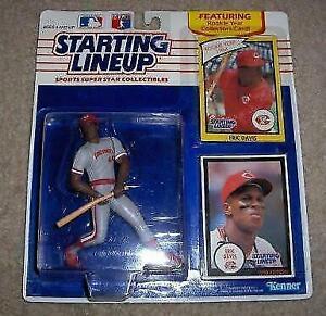 MLB Kenner Starting Linup #44 Eric Davis Cincinnati Reds 1990 #77585 New In Box