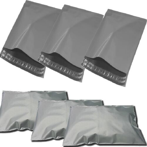 """17/"""" x 24/"""" STRONG POLY MAILING POSTAGE POSTAL QUALITY SELF SEAL GREY 1000 BAGS"""