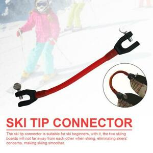 Ski-Tip-Connector-Skitraining-Anfaenger-Teach-Speed-Control-Elasticity-Tube