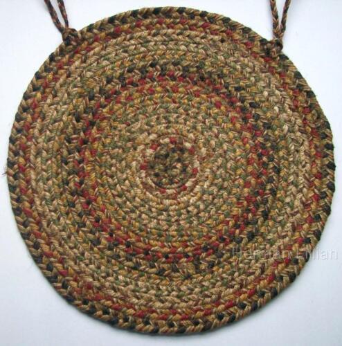 "Homespice Decor KINGSTON Braided Jute 15/"" Chair Pad with Ties"