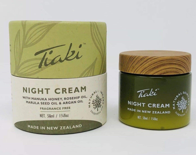 TIAKI NIGHT Cream w/Manuka Honey, Rosehip, Marula, Argan Oils 1.7 oz Exp 1/2025