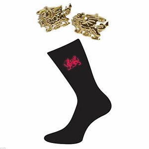 X6S004 Welsh Dragon Cotton Rich Socks