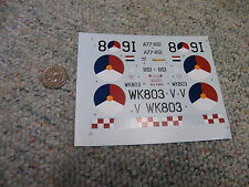 Classic Airframes decals 1/48 Kit#466 Gloster Meteor F.8 Early ver Box 4  Lot 11