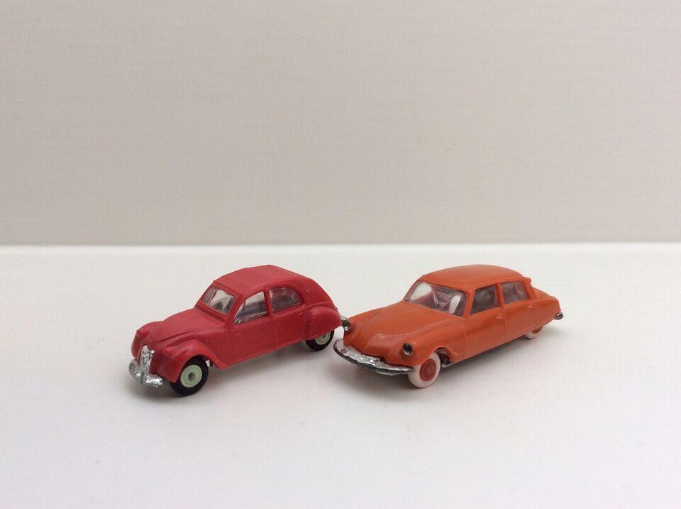 Modelbil, Citroen 2CV , Citroen DS19 Les Micro Miniatures