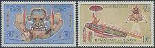 LAOS PA N°104/105** Espace, fusée, 1973 SC #C104-C105 MNH