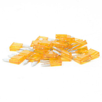 100 Pc 15A Mini Blade Style Fuse ATM  Automotive Car Truck Powersport Motorcycle