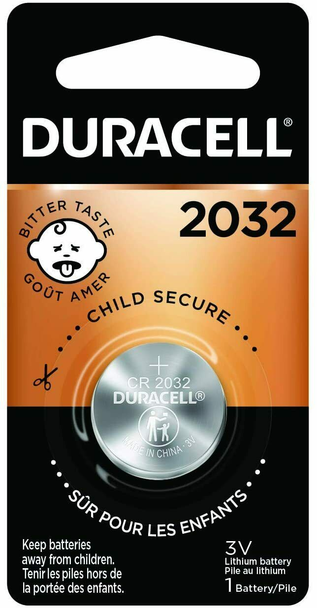 2032 3V Lithium Coin Battery - with Bitter Coating - 1 Count