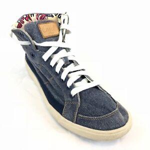 5fdc8dbcec87 Image is loading Coach-Women-Sneakers-HighTop-Ellis-Denim-Shoes-Size-