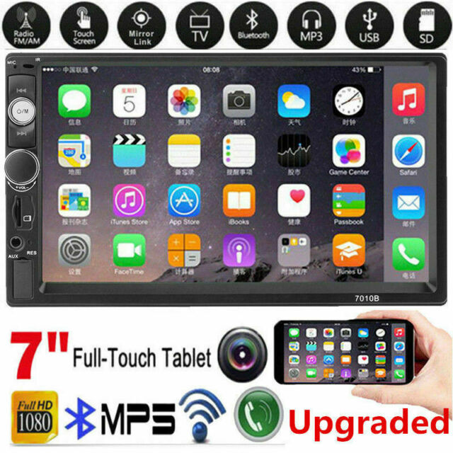 "7"" Inch 2Din Car Stereo Radio HD Mp5 Player Touch Screen Bluetooth Radio &Camera"
