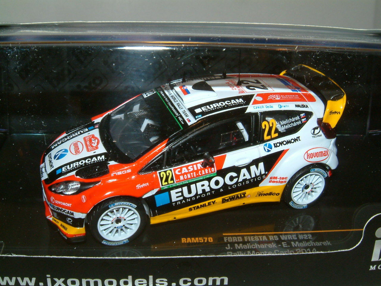 1 1 1 43 IXO Ford Fiesta RS WRC 2014 Monte Carlo Rally, Melicharek,  22.  RAM570 07ec9b