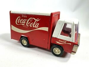 1960s-BUDDY-L-vintage-red-pressed-steel-Coke-vehicle-COCA-COLA-DELIVERY-TRUCK
