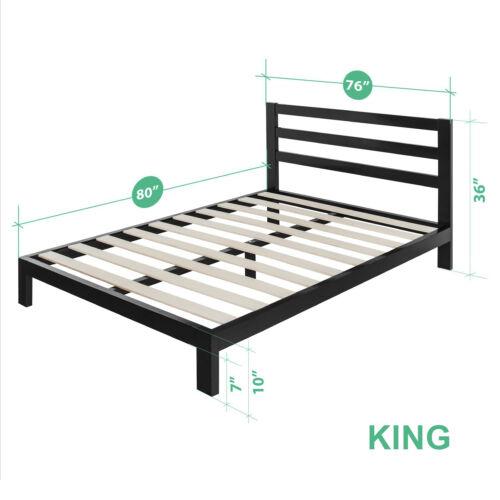 Metal Bed Frame Twin Full Queen King Size Mattress Foundation Platform Headboard