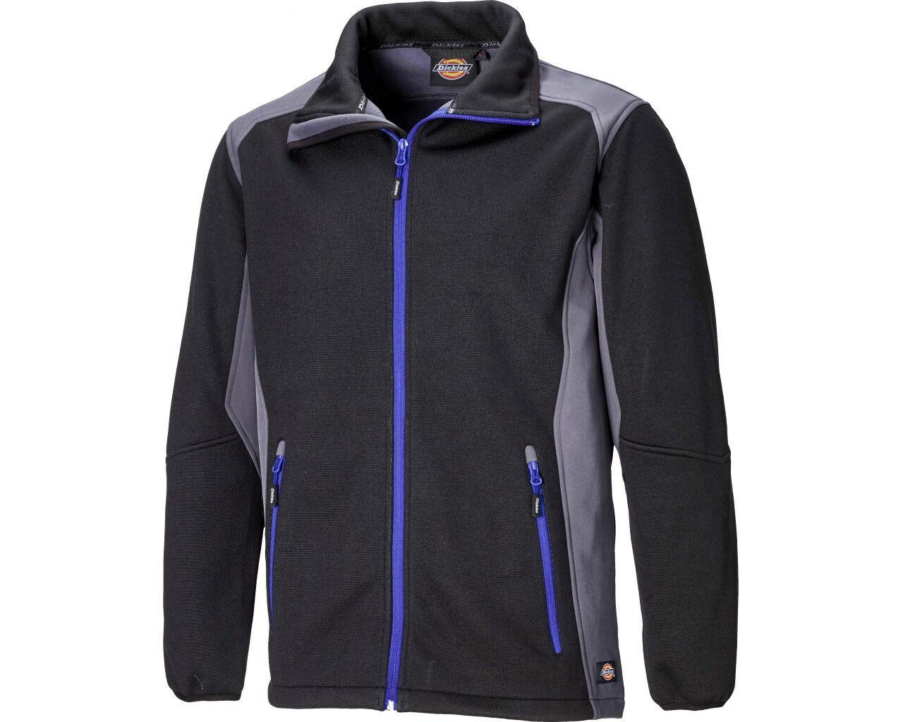Dickies Lewiston Jacke Herren Schwarz Premium Qualität Contrast Mantel JW7014 UK