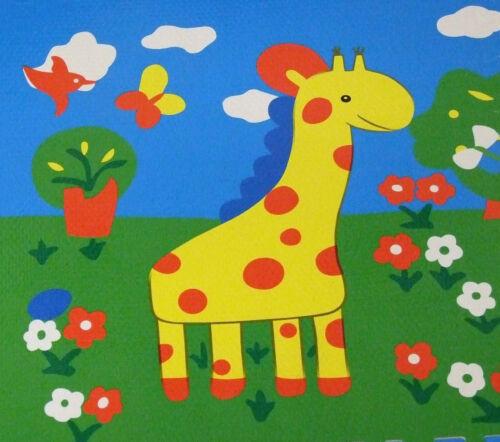Soft Interlocking EVA Foam Four Animals Floor Mats Baby Play Gym Nursery /& Edges